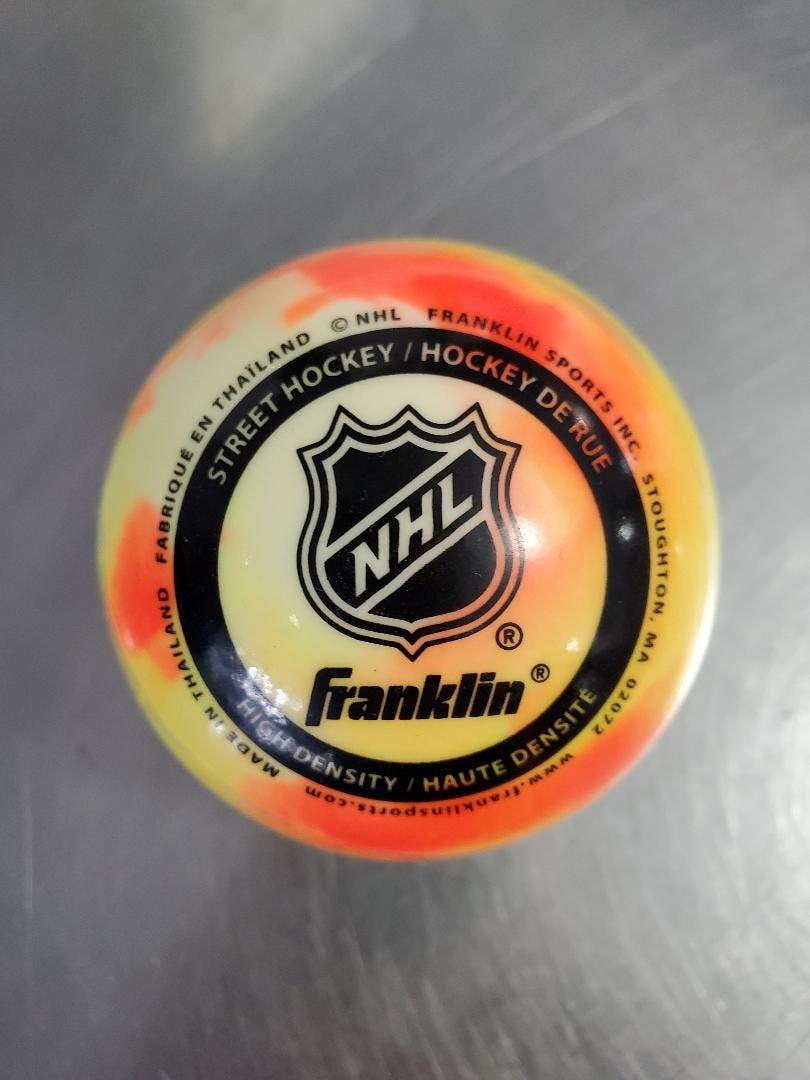 Franklin Sports Glow in The Dark Street Roller Hockey Puck Green for sale online
